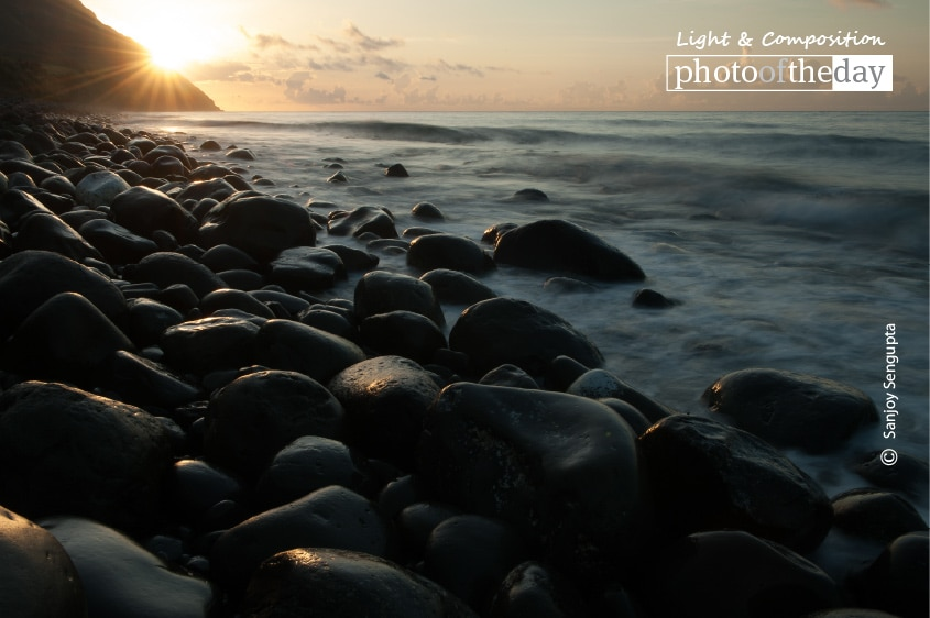 Sunrise at Boulder Beach, by Sanjoy Sengupta