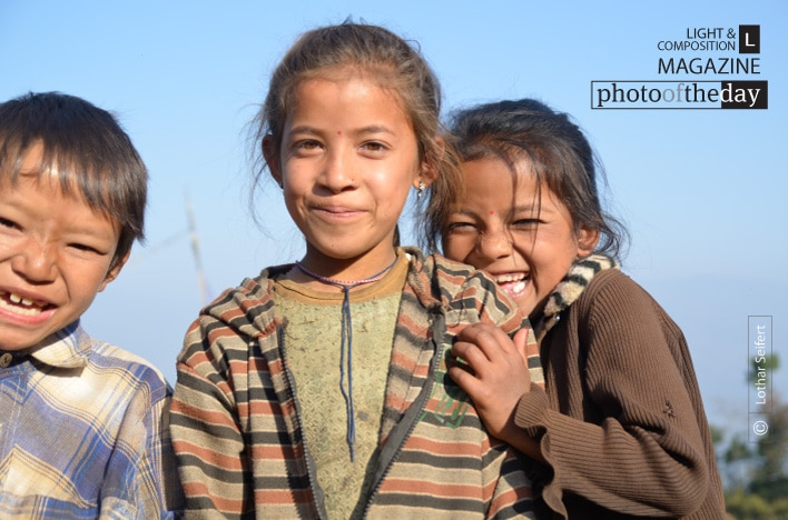 Children in Nepal, by Lothar Seifert