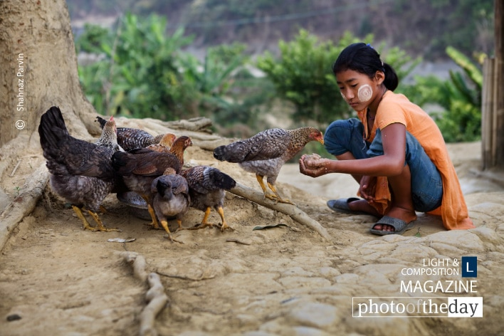 A Young Tribal Girl , by Shahnaz Parvin