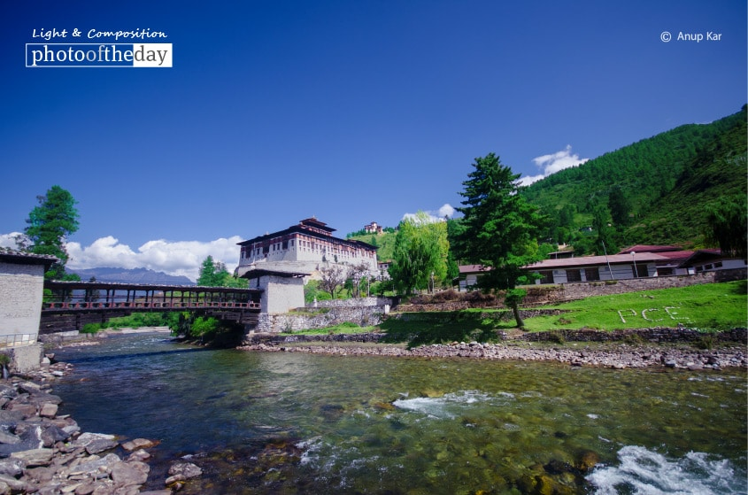 Rinpung Dzong in Paro, by Anup Kar