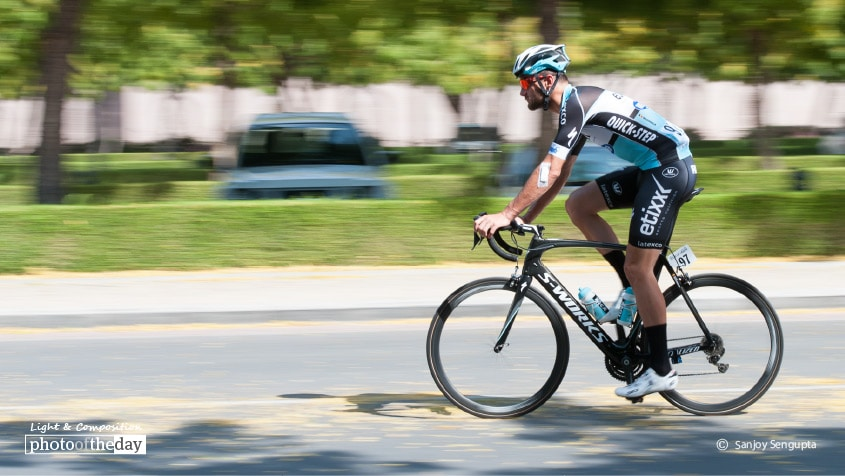 The Cyclist, by Sanjoy Sengupta