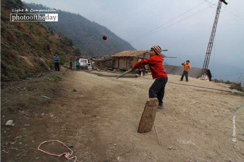 Cricket Fever at 3000 Meters, by Dipanjan Mitra