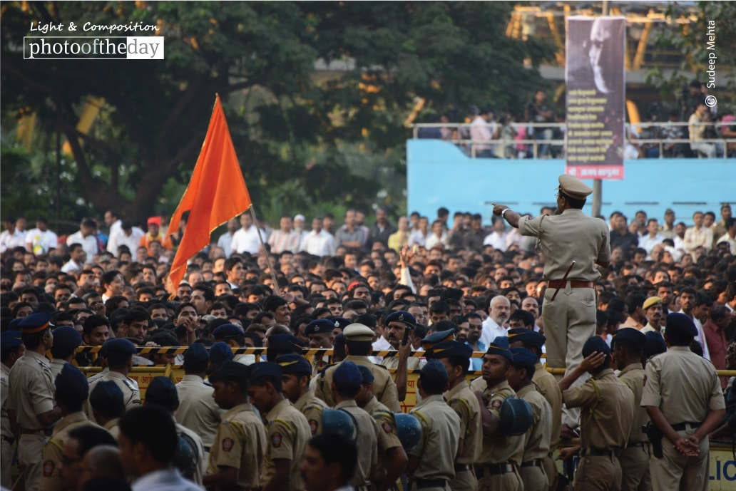 Making way through the throng, by Sudeep Mehta