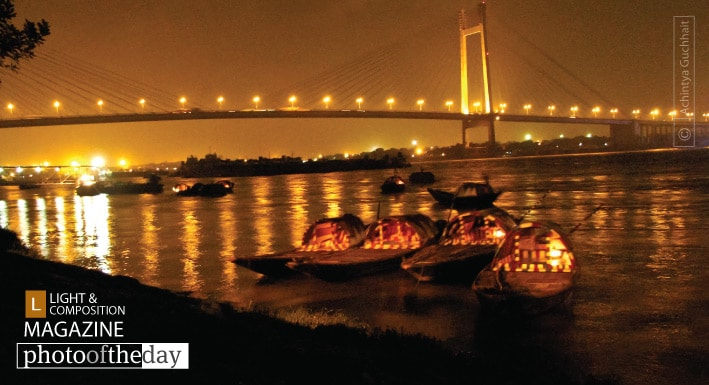 The Golden Bridge at Kolkata, by Achintya Guchhait