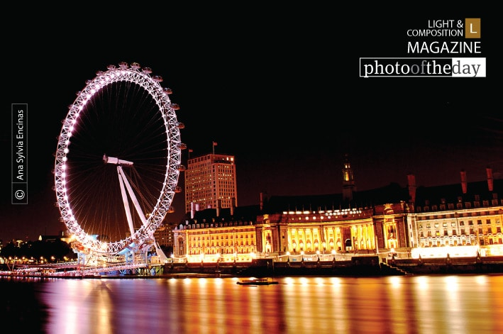 London Eye at Night, by Ana Sylvia Encinas