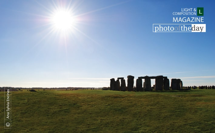 Stonehenge, facing warm sunlight, by Ana Sylvia Encinas
