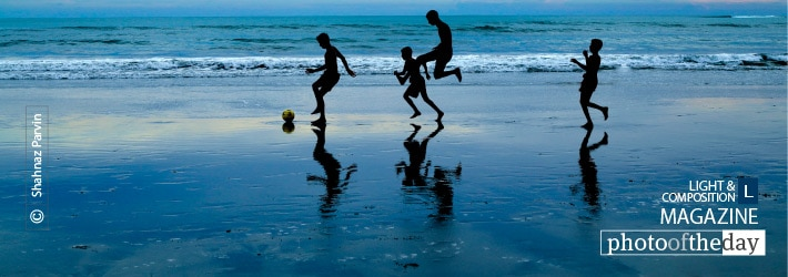 It's Time to Play Football, by Shahnaz Parvin