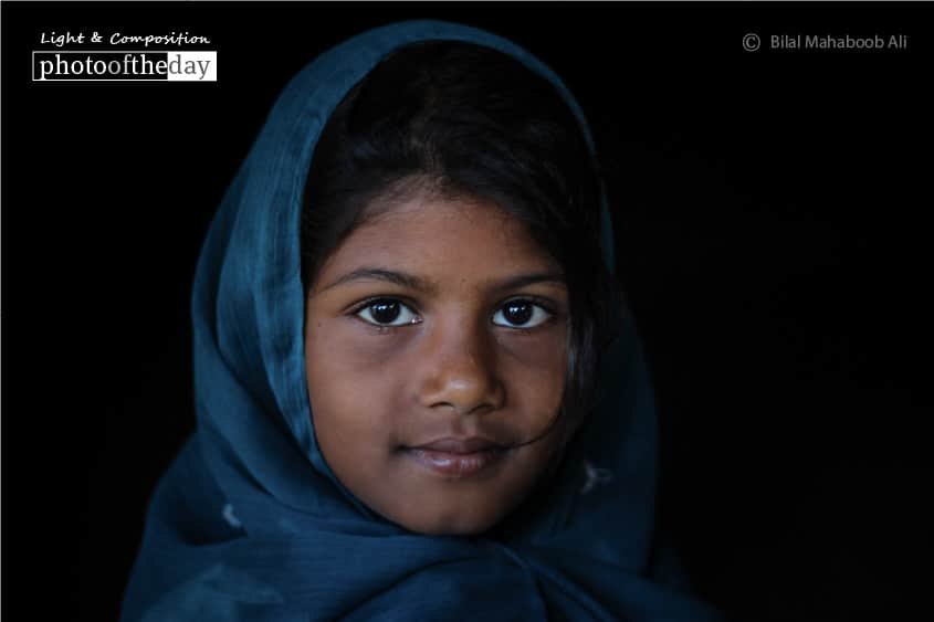 A Young Village Girl, by Bilal Mahaboob Ali