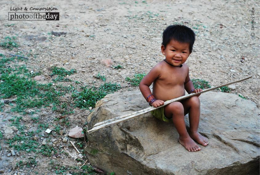 A Happy Tribal Kid, by Tanmoy Saha