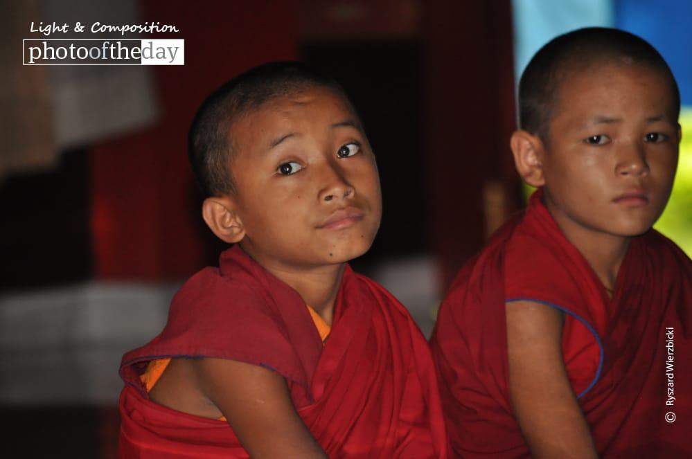 Bored Monks, by Ryszard Wierzbicki