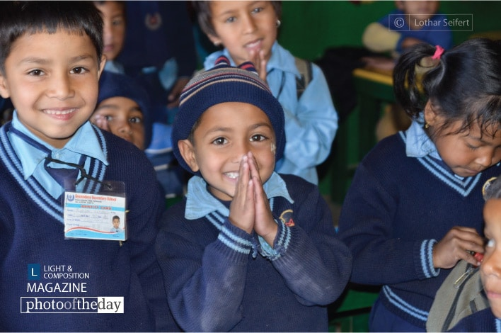 School Class in Kathmandu, by Lothar Seifert