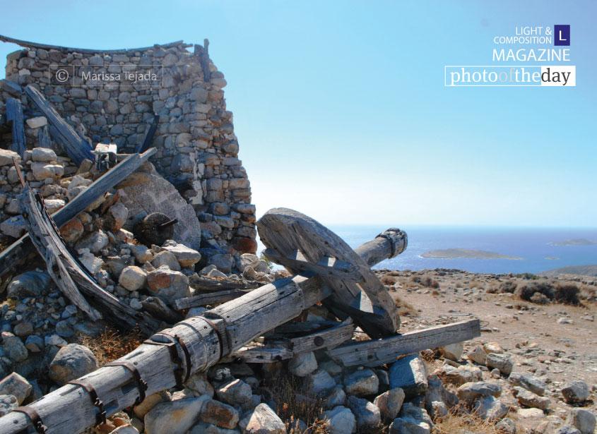 Abandoned Windmills Above the Sea, by Marissa Tejada