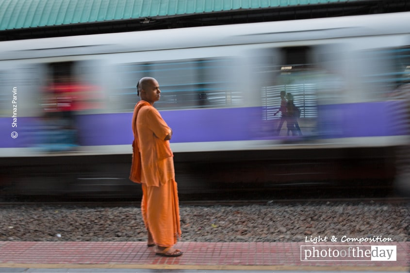 Standing on the Platform, by Shahnaz Parvin
