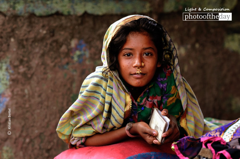 A Gypsy Girl in Dharavi, by Kristian Bertel