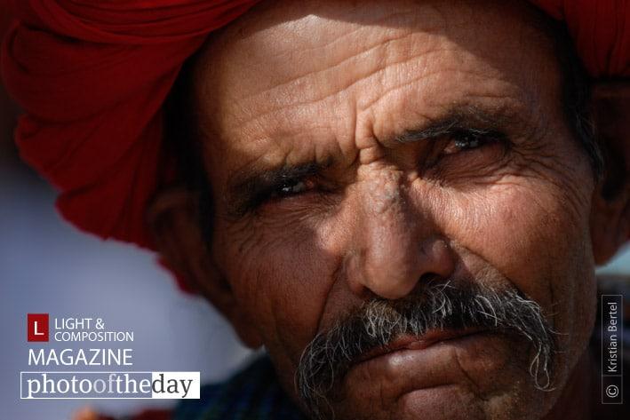 Man in India, by Kristian Bertel