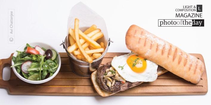 Egg and Steak Sandwich, by Avi Chatterjee