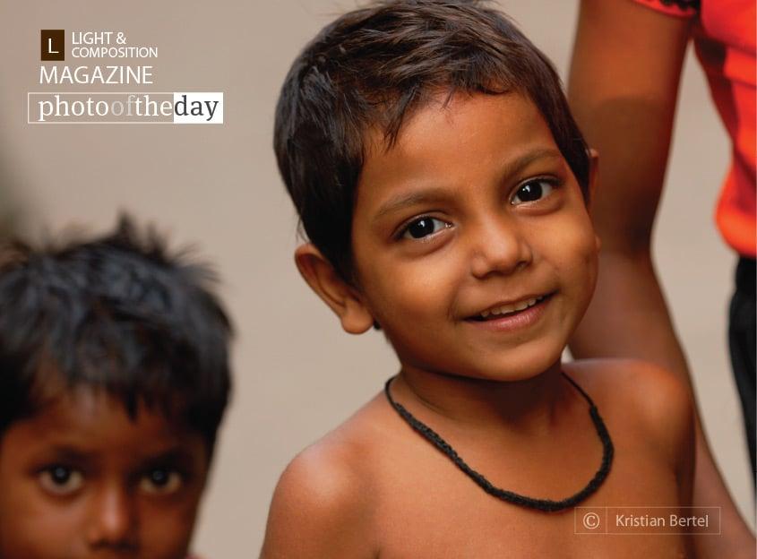 Boys in India, by Kristian Bertel