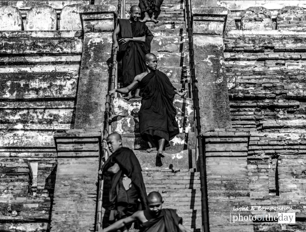 Staircase Monks, by Shirren Lim