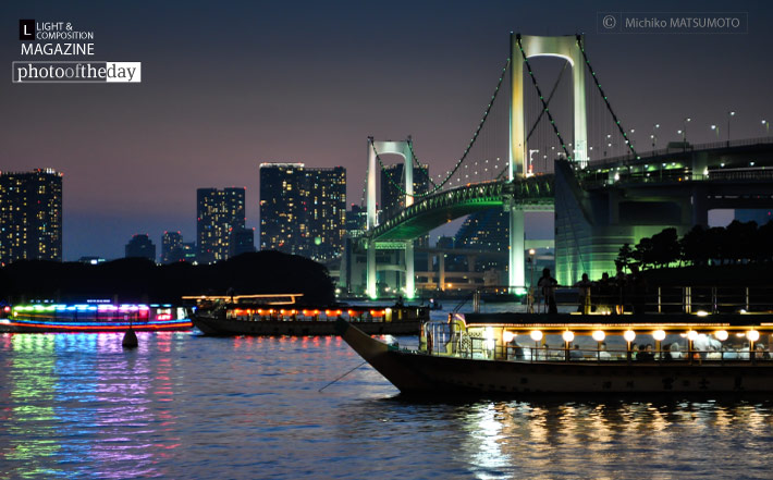 The Tokyo Bay & the Traditional House Boats, by Michiko Matsumoto