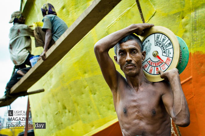 A Dockyard Worker, by Shahnaz Parvin