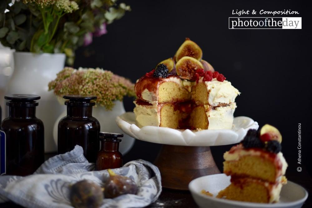 Styling Victoria Sponge Cake, by Athena Constantinou