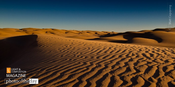 Imperial Sand Dunes in California, by Matt Caguyong