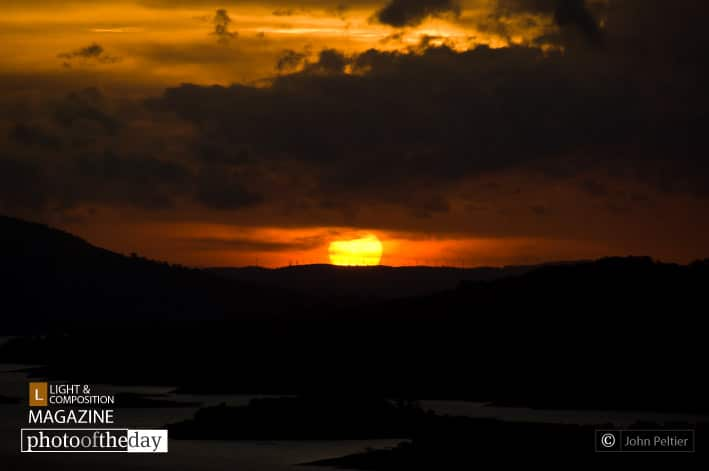 Sunset over Lago Arenal
