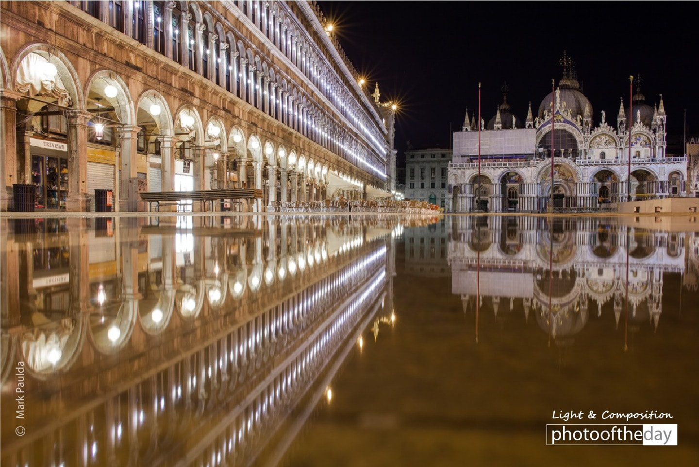Reflections in the Piazza, by Mark Paulda