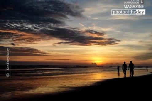 Fiery Sunset, by Kazi Fazly Rabby