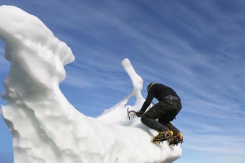 Iceberg Bouldering, by Karin Eibenberger
