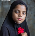 The Girl with a Red Rose, by Shahnaz Parvin