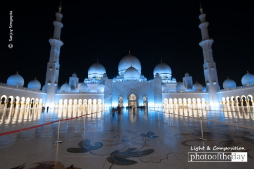 Mosque by Night, by Sanjoy Sengupta