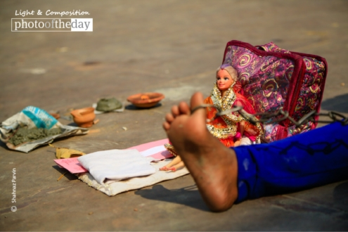 With Her Dolls, by Shahnaz Parvin