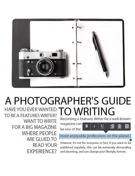 A Photographer's Guide for Writing