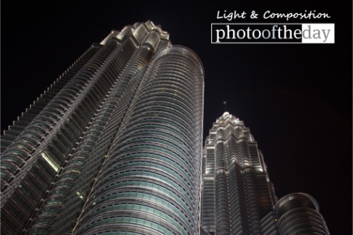 The Night View of Petronas, by Sandeep Nair