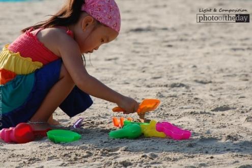 A Little Girl on Kata Beach, by Ryszard Wierzbicki