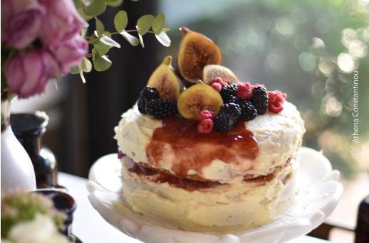 Victoria Sponge Cake, by Athena Constantinou