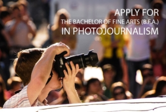 Apply for the Bachelor of Fine Arts (B.F.A.) in Photojournalism