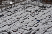 Snow Covered Cars, by Des Brownlie
