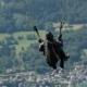 Take off at Col de la Forclaz, by Ola Cedell