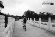 A Cyclist on the White Bridge, by Siew Bee Lim