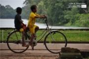 Angkor Cyclists, by Ryszard Wierzbicki