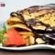 Strawberry and Chocolate Pan-crepe, by Rasha Rashad