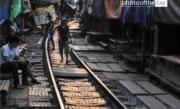 Maeklong Railway Track, by Ryszard Wierzbicki