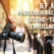 Second-Year Enrollment | B.F.A. in Photojournalism