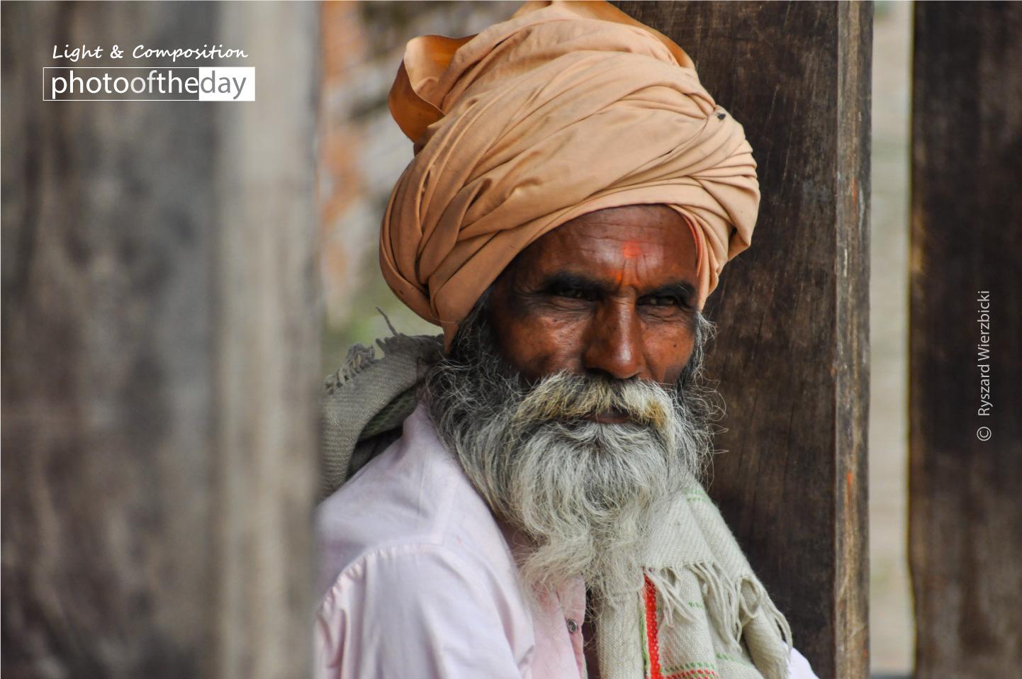 A Grey Bearded Nepali by Ryszard Wierzbicki