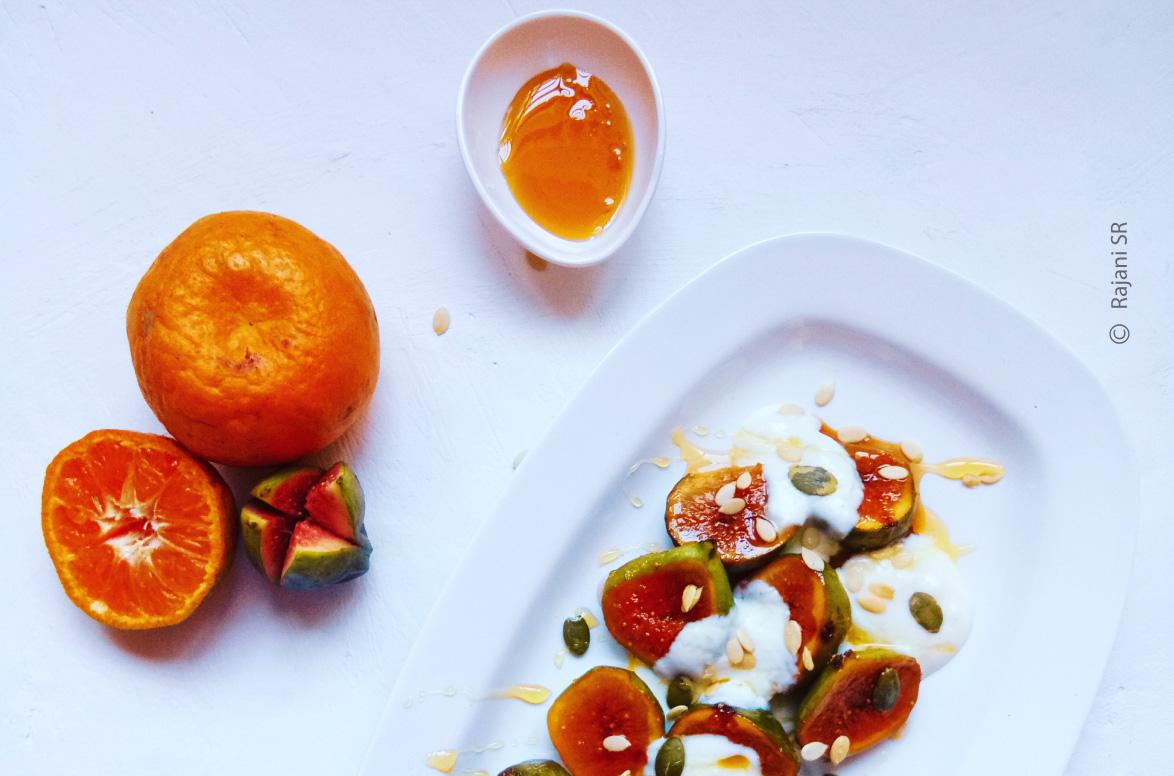 Glazed Figs with Honey by Rajani SR