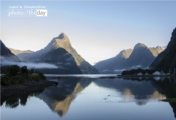 Morning Light at Milford Sound by Manon Mathieu