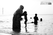 Beach Sunset with Granny by Andisiwe Boya