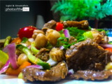 Chickpeas Salad with Meat by Hanan AboRegela